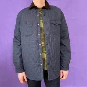 Chaos Blue Quilted Jacket w/ Corduroy Collar